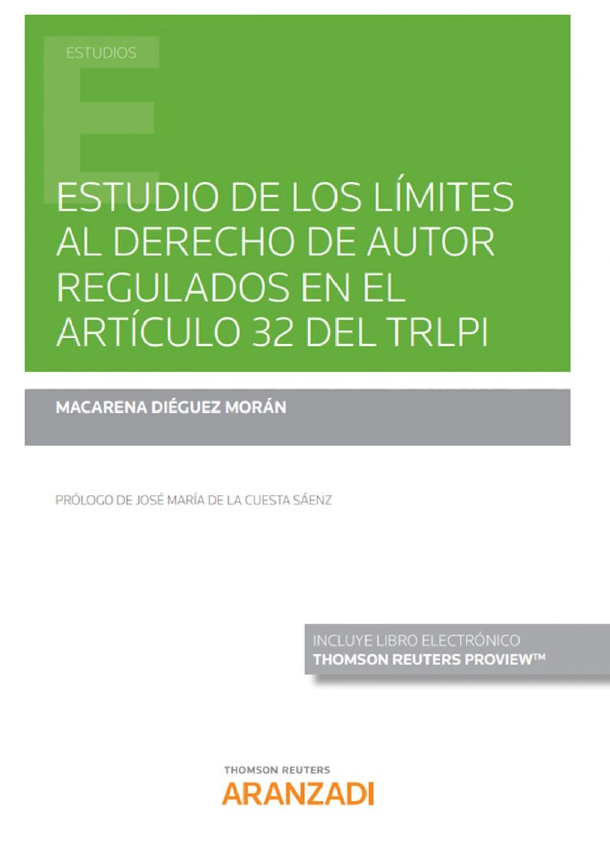 ESTUDIO DE LIMITES AL DERECHO DE AUTOR REGULADOS ARTICUL 32
