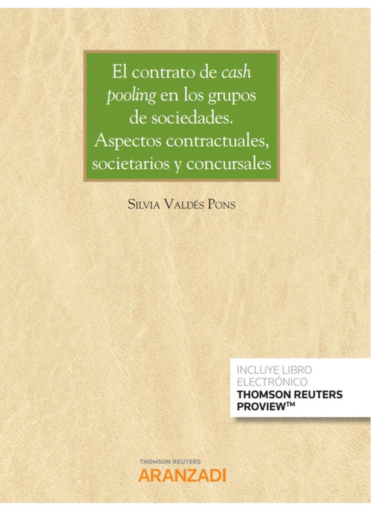 Contrato de cash pooling en los grupos de sociedades, El