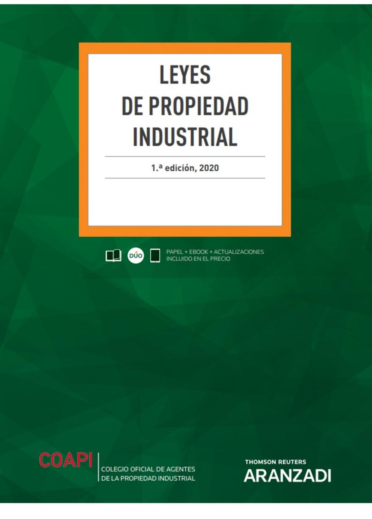 Leyes de Propiedad Industrial (Papel + e-book)