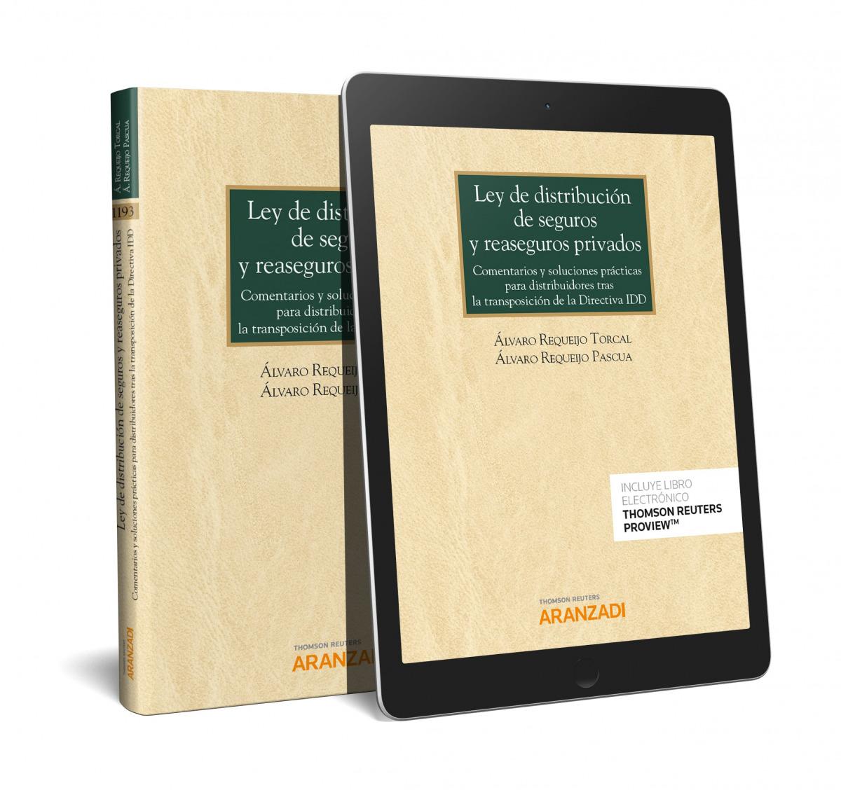 Ley de distribución de seguros y reaseguros privados (Papel + e-book)