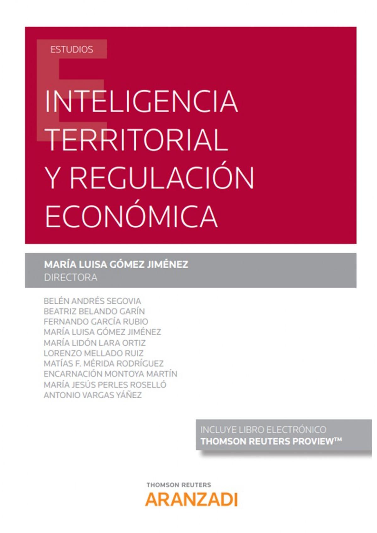 Inteligencia Territorial y Regulación Económica (Papel + e-book)