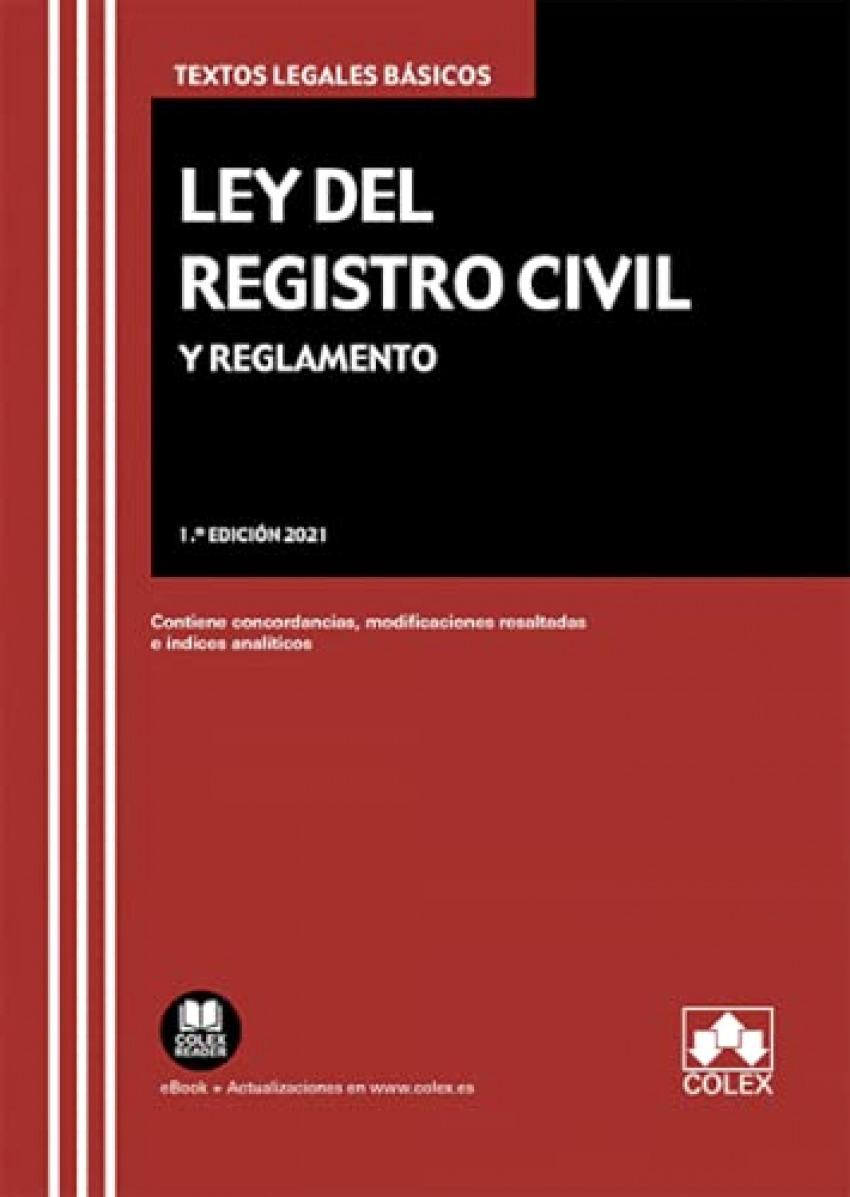Ley del Registro Civil y Reglamento 2021