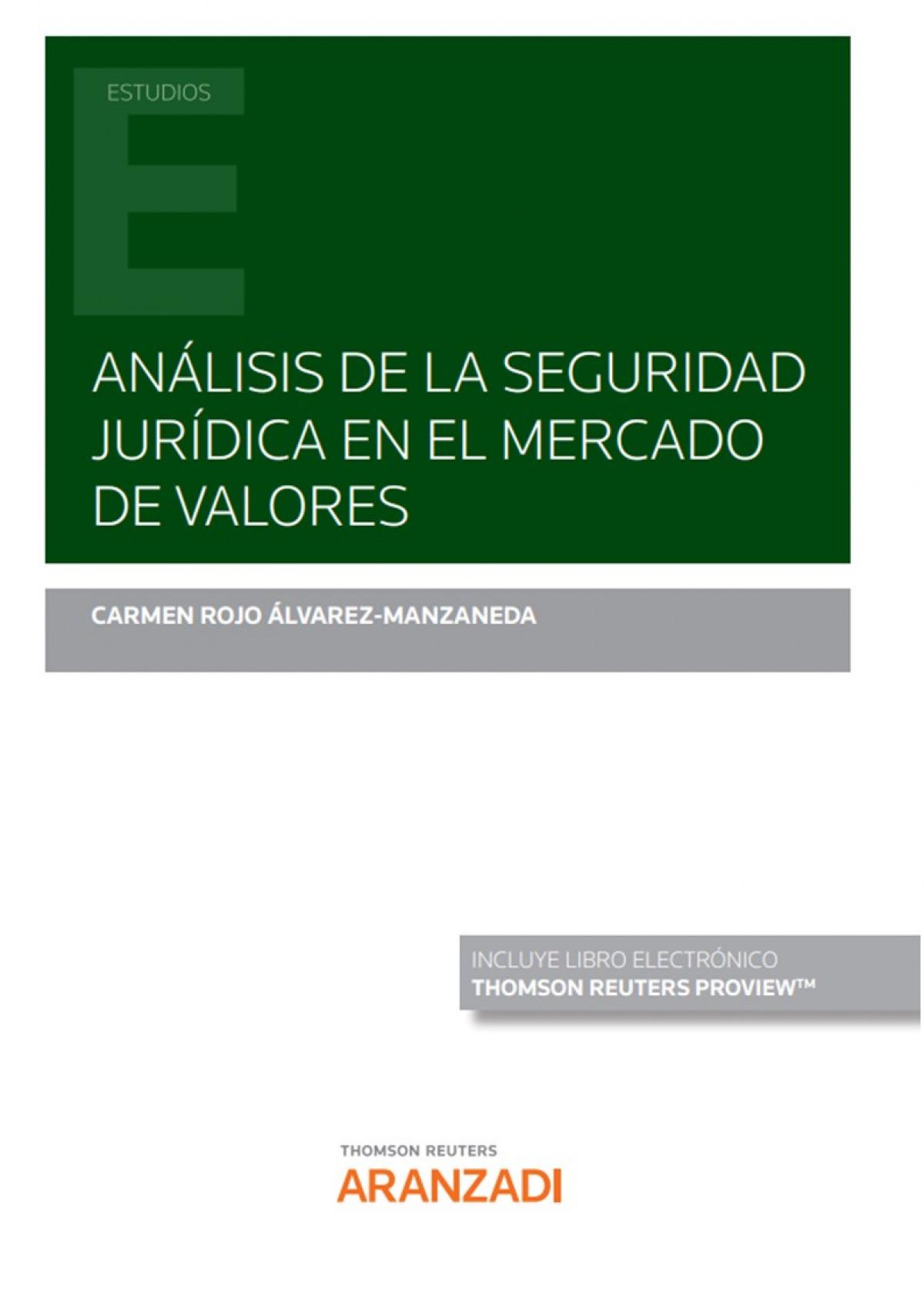 Análisis de la seguridad jurídica en el mercado de valores (DÚO)