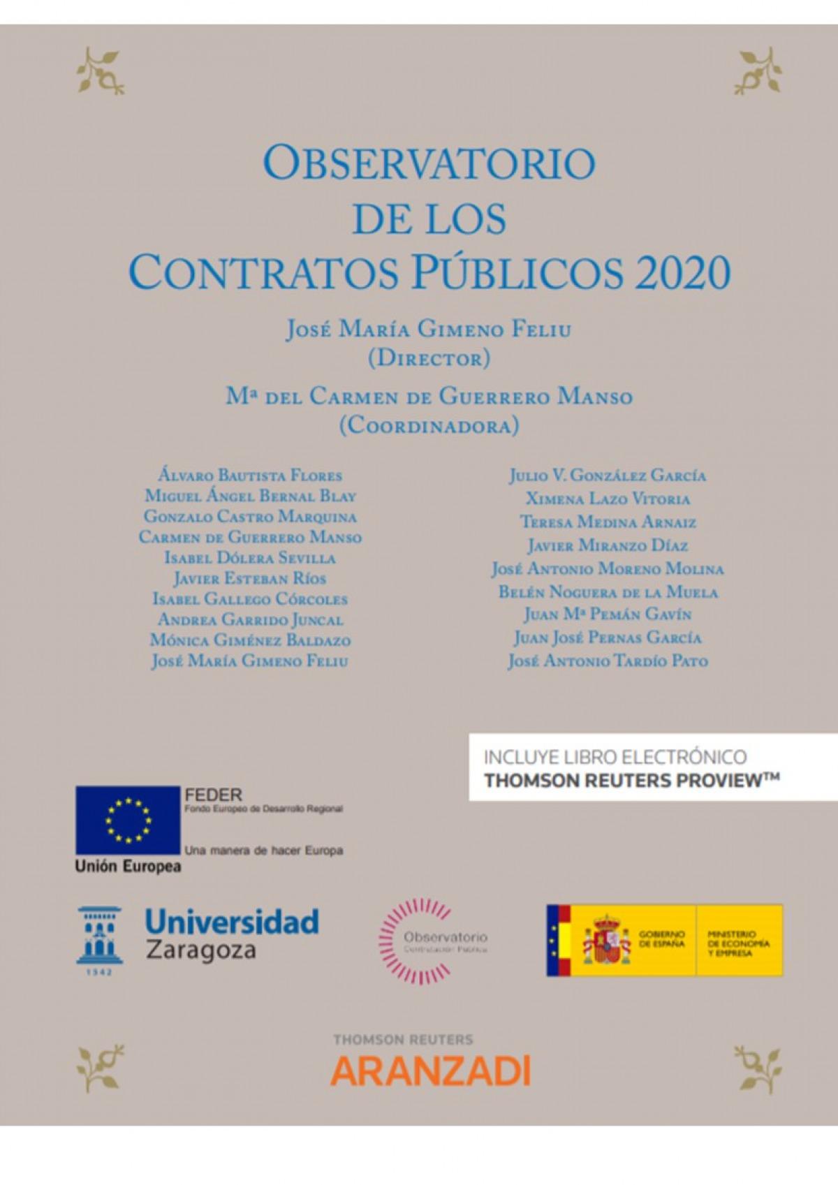Observatorio de los contratos públicos 2020 (Papel + e-book)