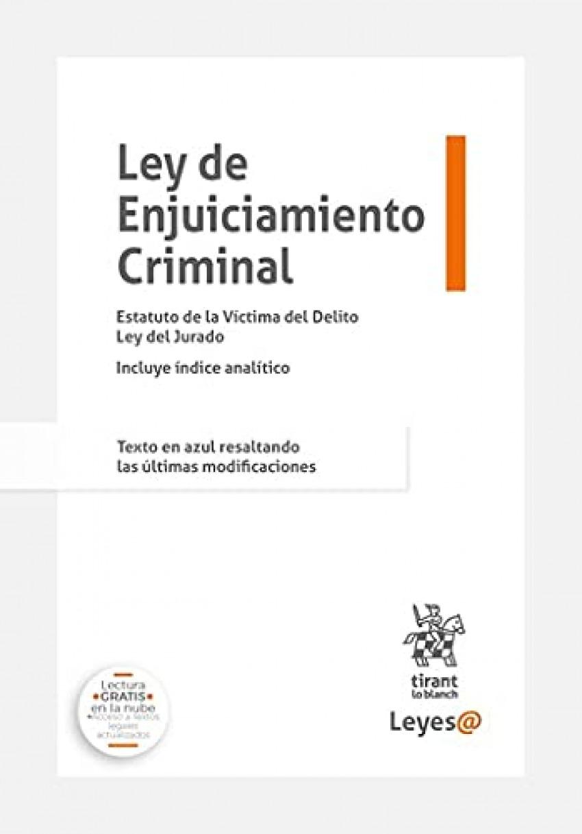 Ley de Enjuiciamiento Criminal 2021 Anillas