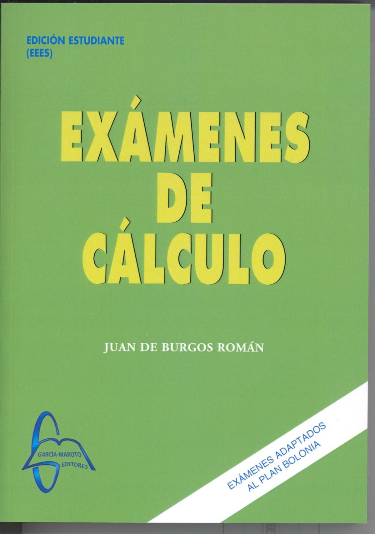 EXÁMENES DE CÁLCULO