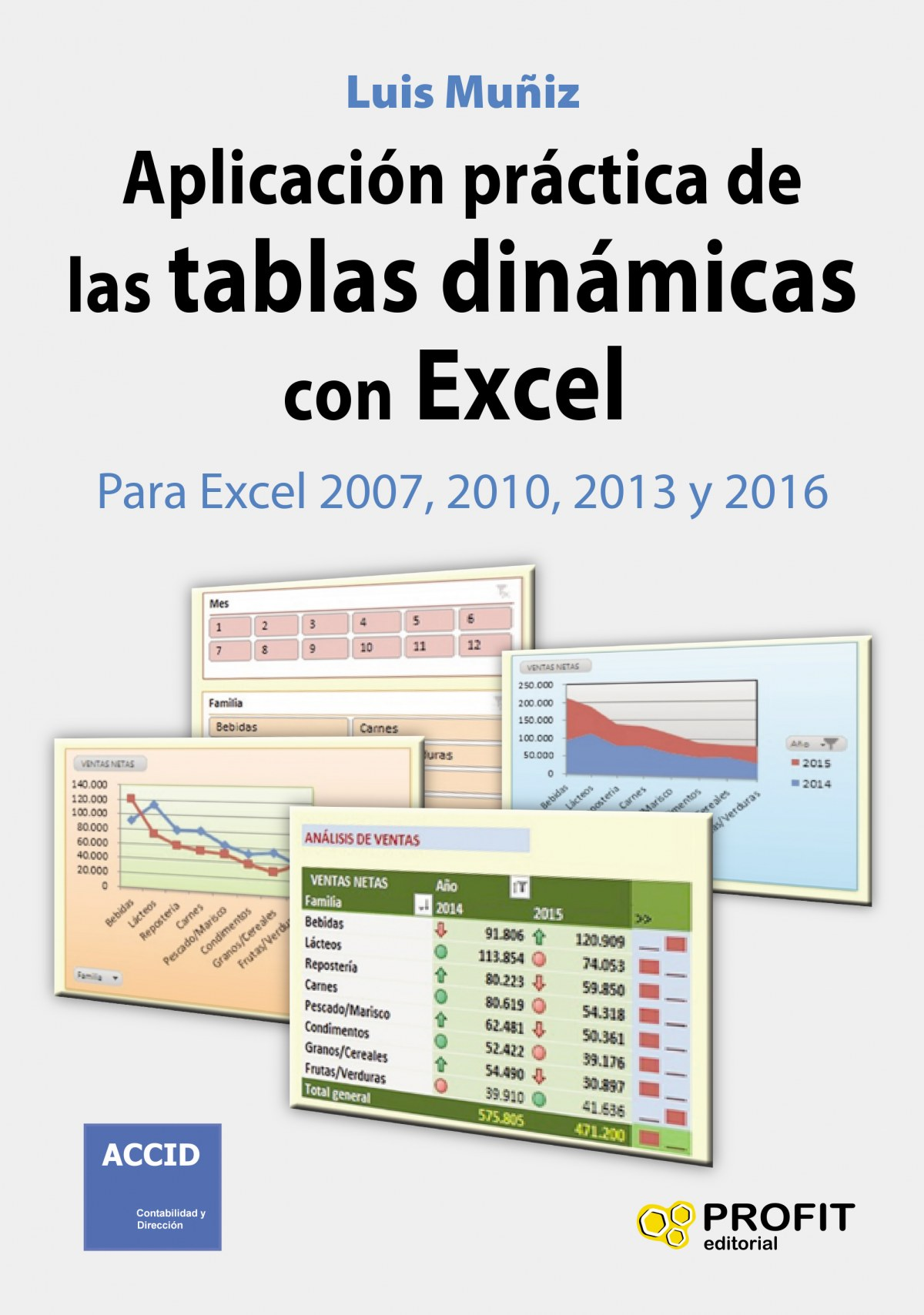 Aplicación práctica de las tablas dinámicas con Excel. 9788416115969