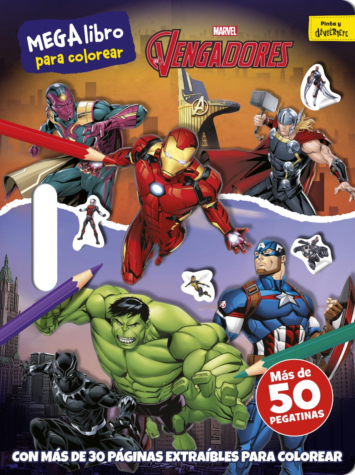 Los Vengadores. Megalibro para colorear
