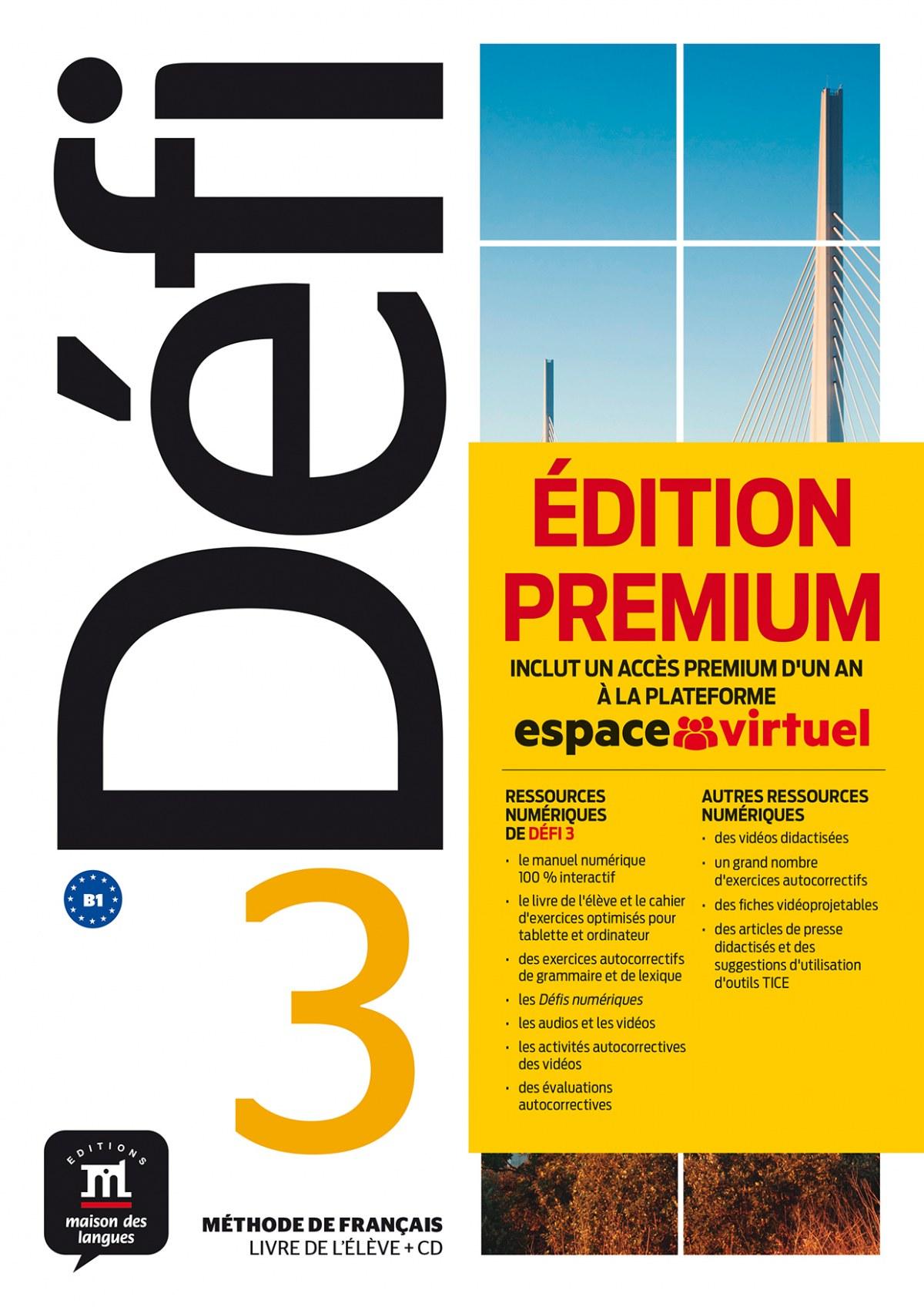 Défi 3 Premium Livre de l´élève + CD