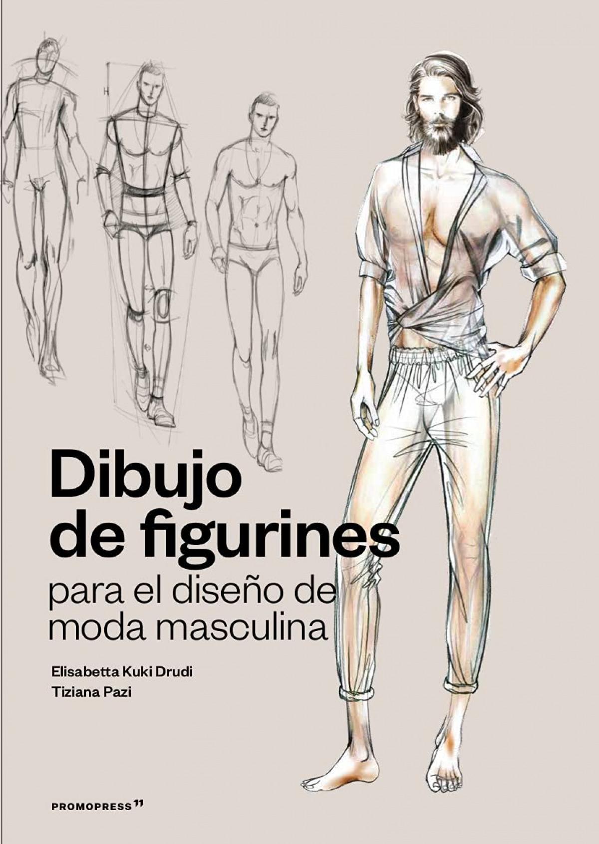 DIBUJO DE FIGURINES PARA EL DISEÑO DE MODA MASCULINA