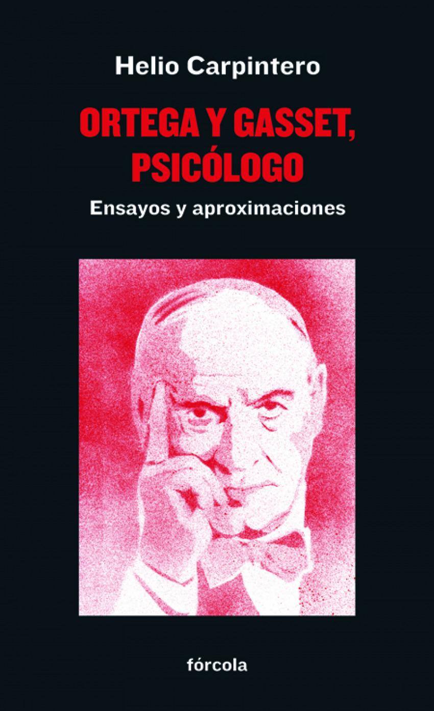 ORTEGA Y GASSET PSICÓLOGO