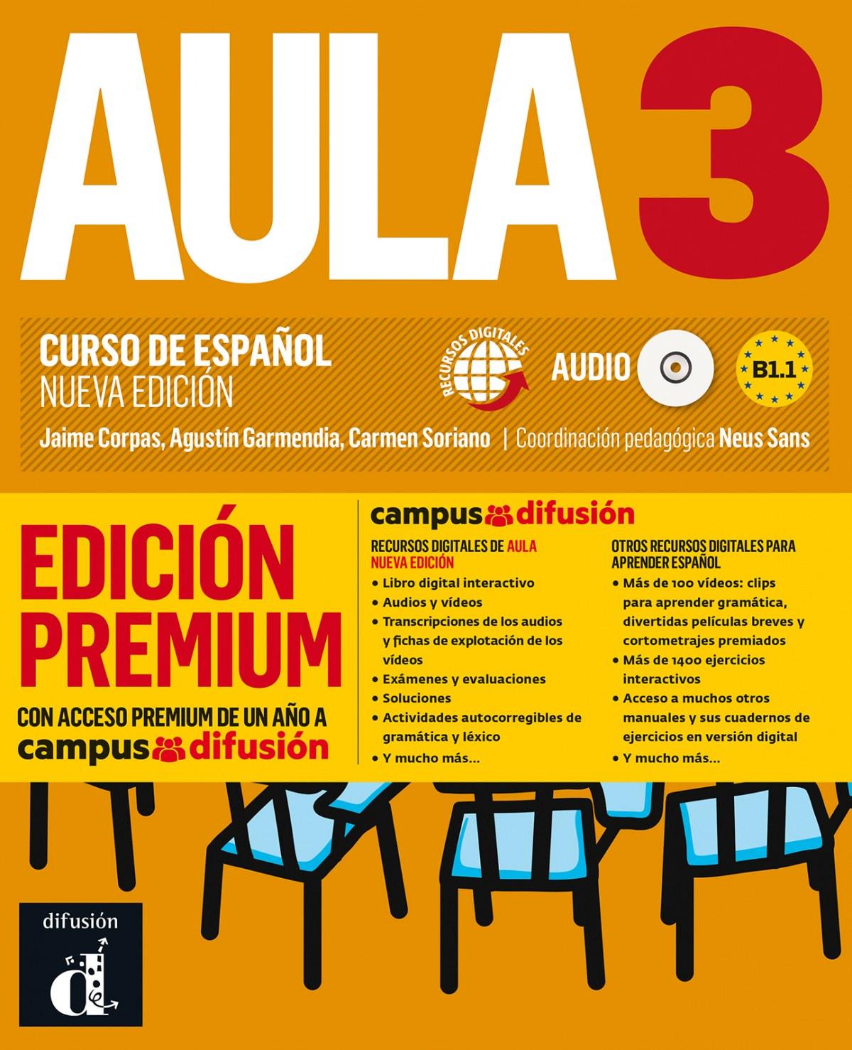 Aula Nueva Edición 3 Premium libro del alumno + CD
