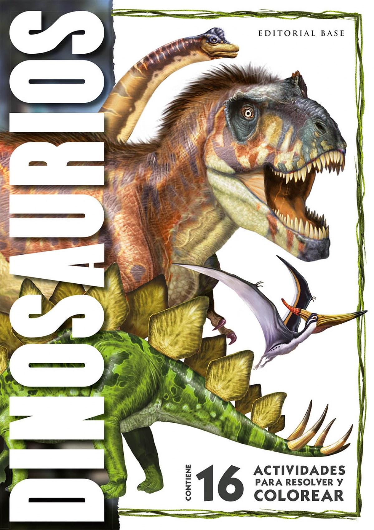 Dinosaurios - 16 actividades para resolver y colorear
