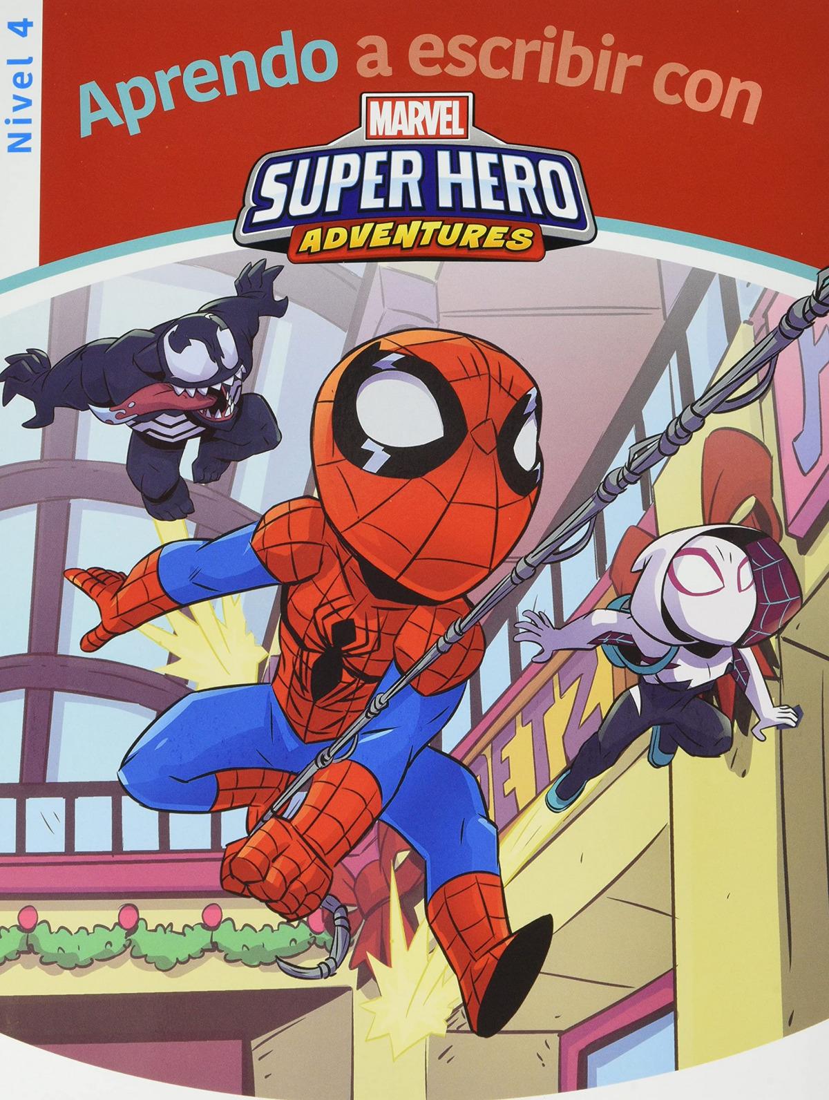 Aprendo a escribir con los superhéroes Marvel - Nivel 4 (Aprendo a escribir con Marvel)