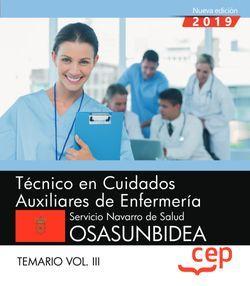 TÈCNICO EN CUIDADOS AUXILIARES DE ENFERMERÍA. TEMARIO VOL.III