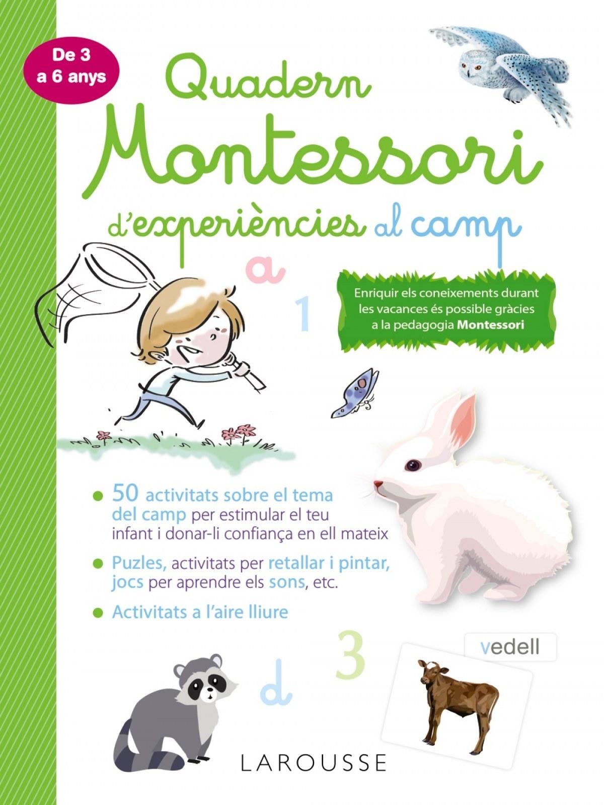 Quadern Montessori d'experiències al camp