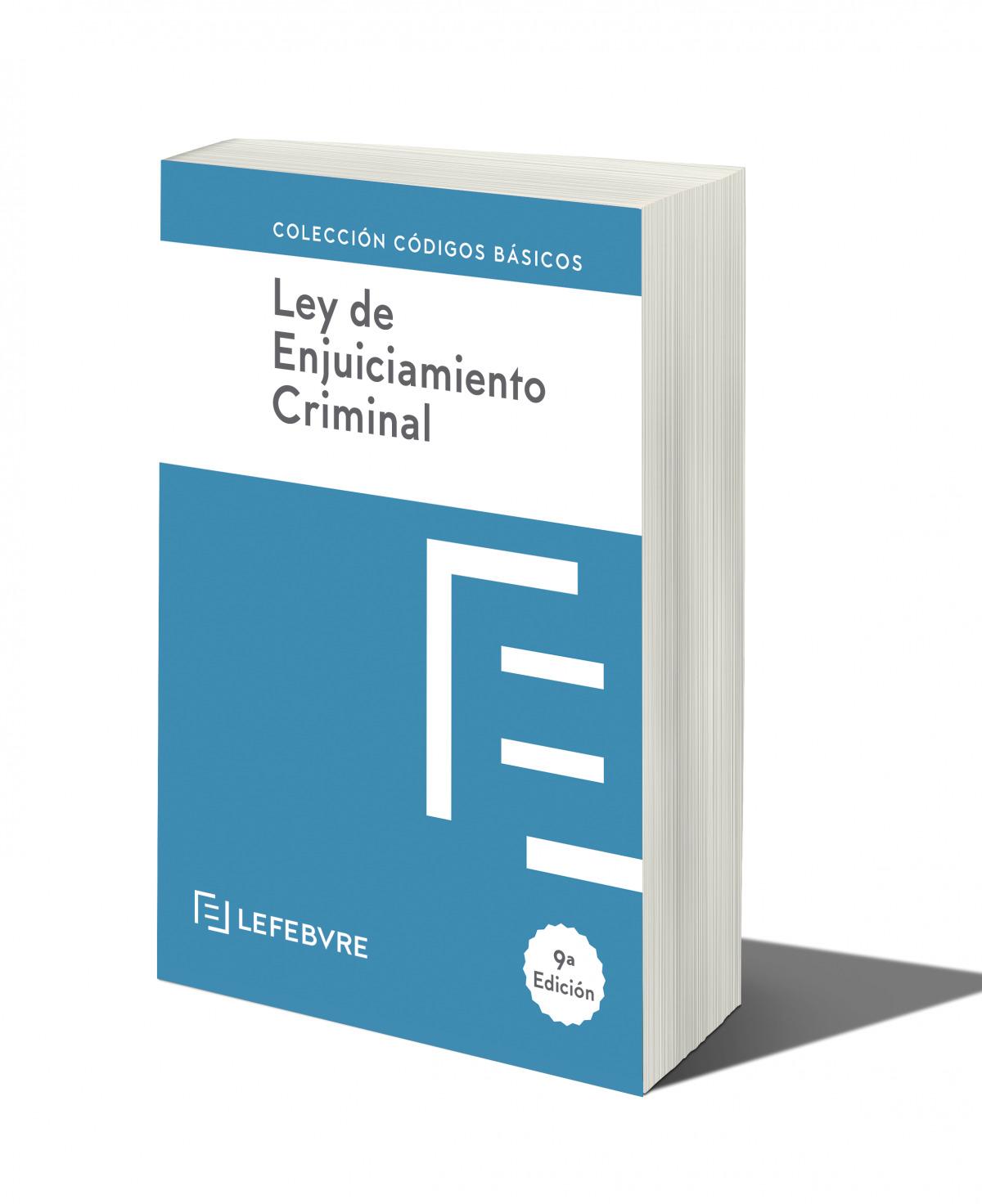 LEY DE ENJUICIAMIENTO CRIMINAL 9ª edc.