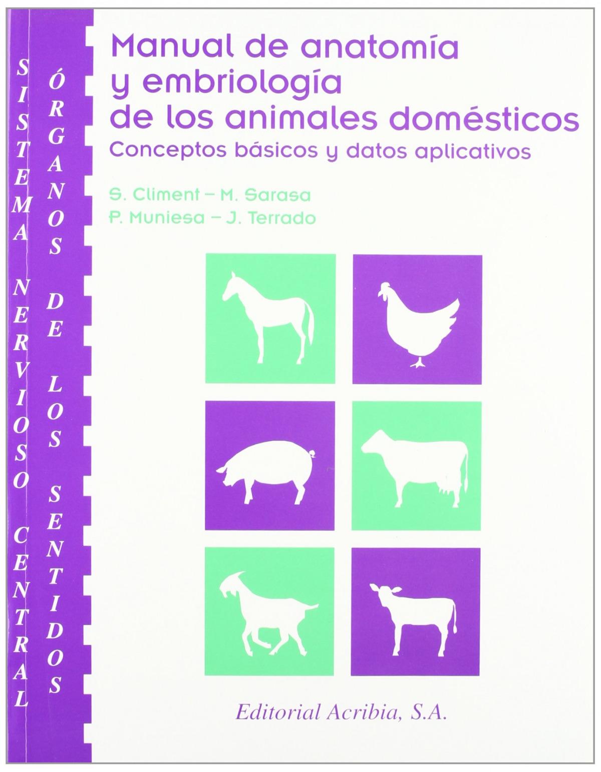 SISTEMA NERVIOSO CENTRAL/ÓRGANOS DE LOS SENTIDOS MANUAL DE ANATOMÍA/EMBRIOLOGÍA DE LOS ANIMALES DOMÉ