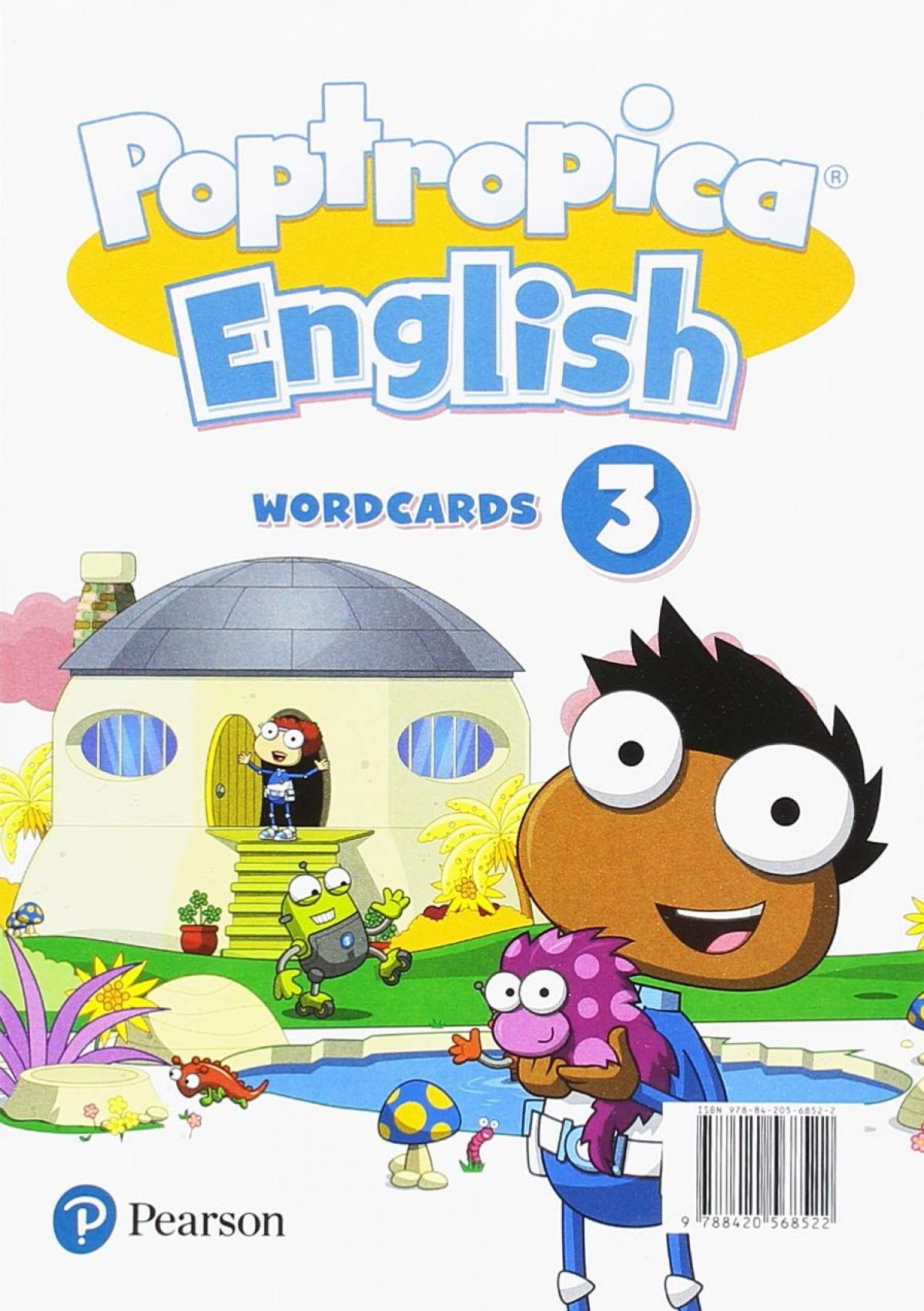 POPTROPICA ENGLISH 3 WORDCARDS