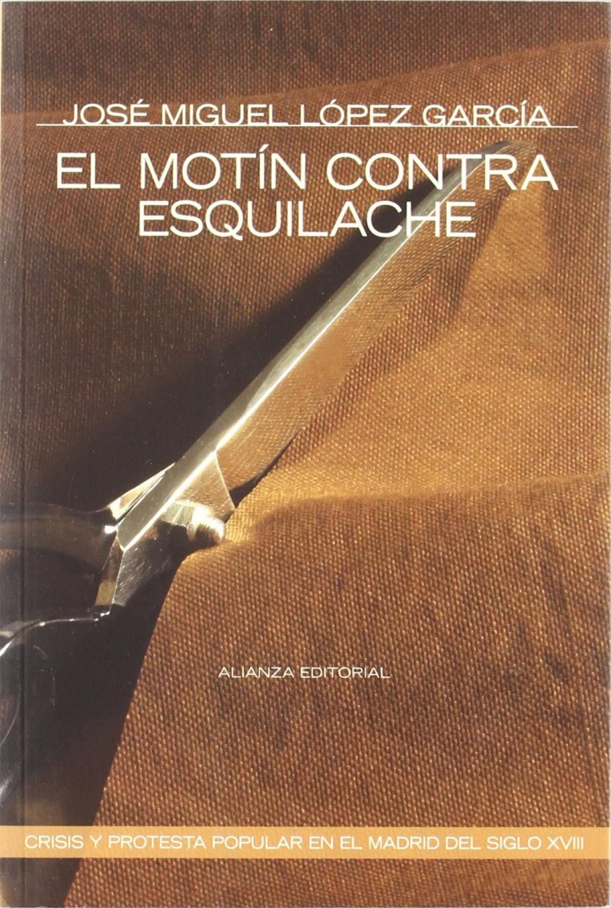 El motin contra esquilache 9788420647937