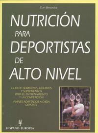 Nutricion para deportistas de alto nivel