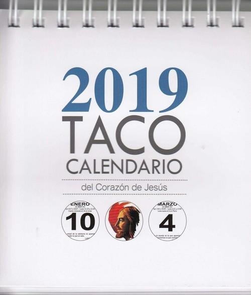 Calendario Zaragozano 2020.Taco Calendario Sagrado Corazon De Jesus 2019 Vv Aa Imosver