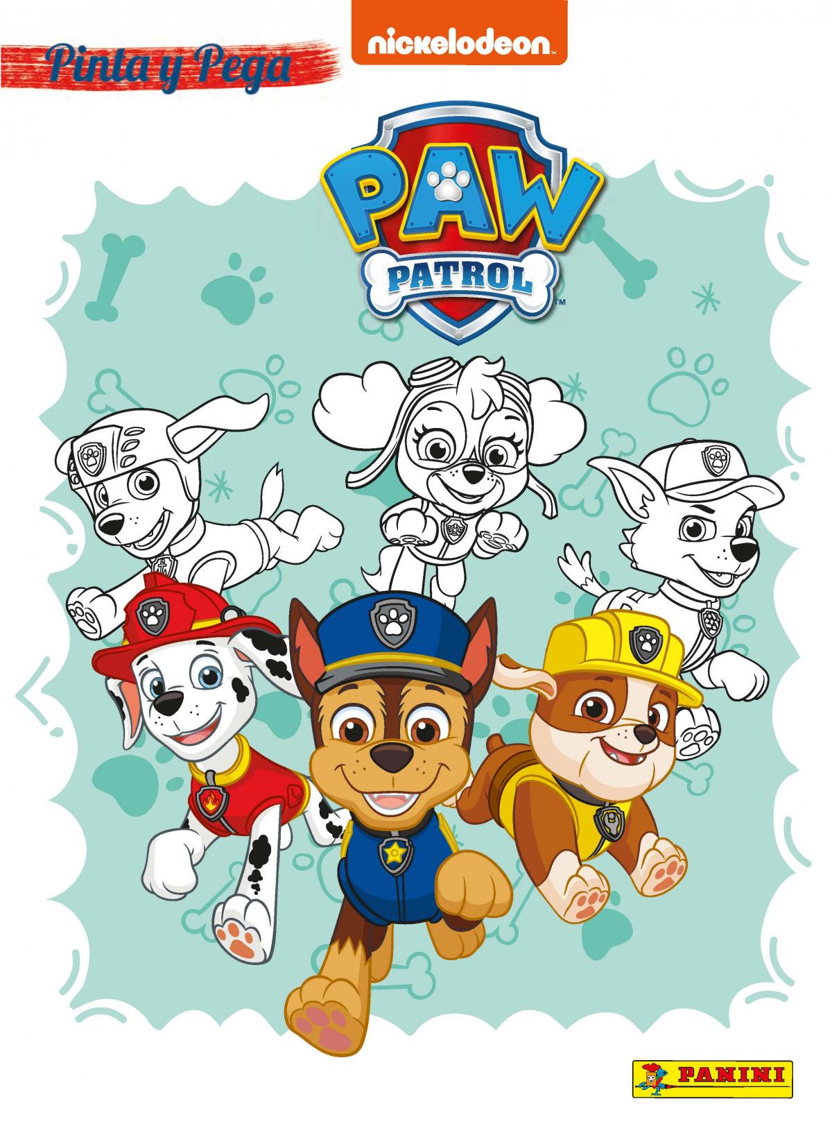 PINTA Y PEGA PAW PATROL