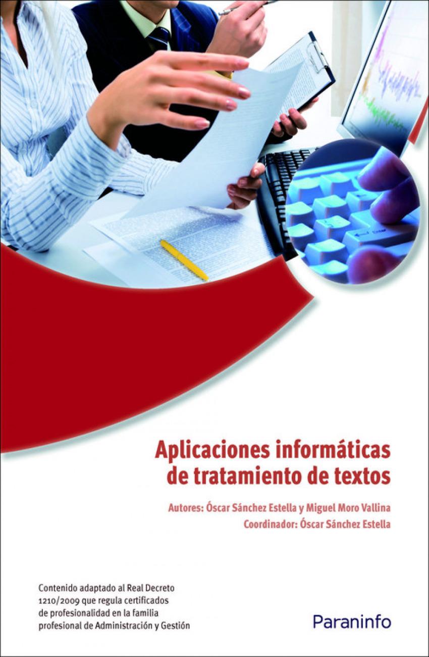 Aplicaciones informaticas de tratamiento textos 9788428332422