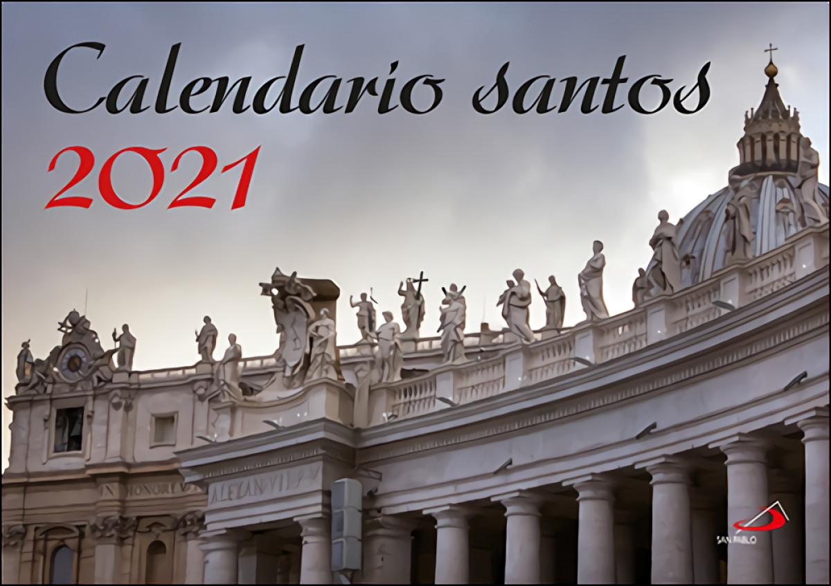 Calendario de pared santos 2021
