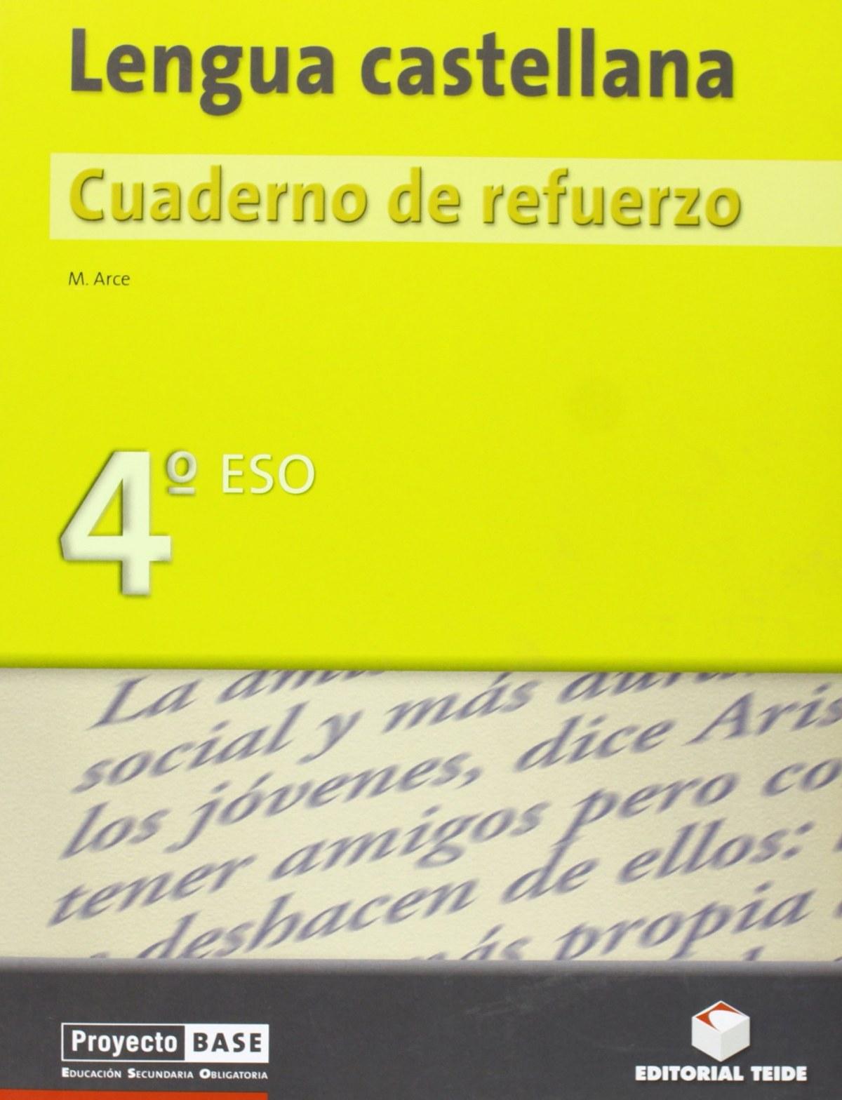 CUAD.REFUERZO LENGUA 4º.ESO (PROYECTO BASE)
