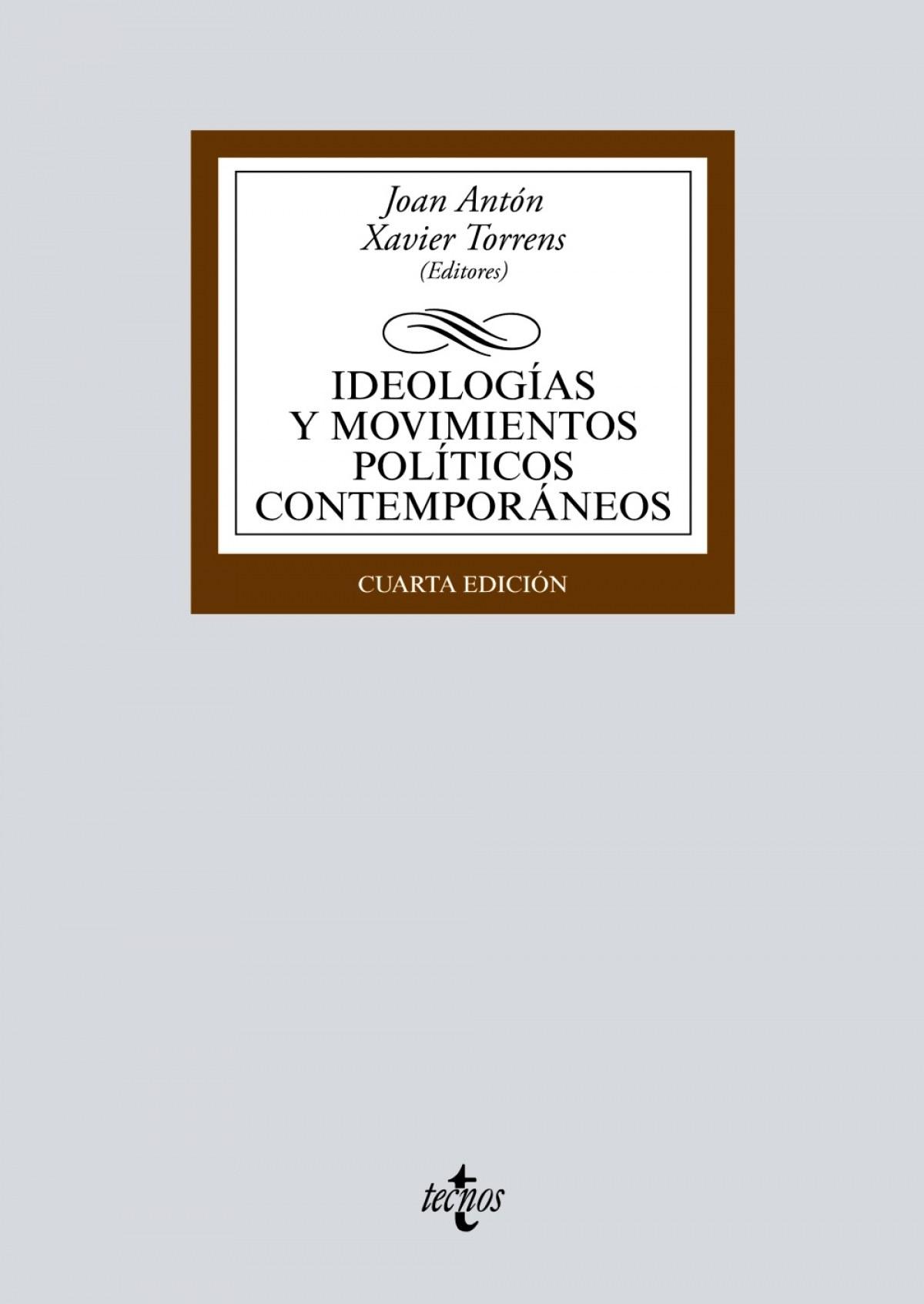 Ideolog¡as y movimientos pol¡ticos contemporáneos