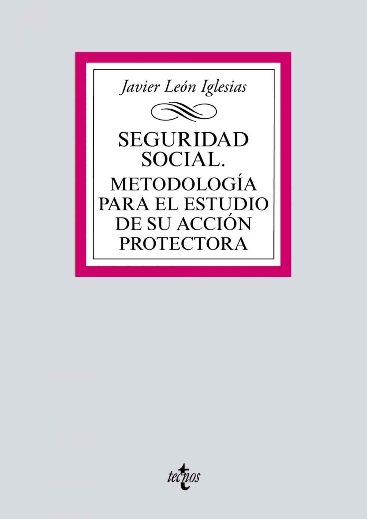 Seguridad Social. Metodolog¡a para el estudio de su acción protec