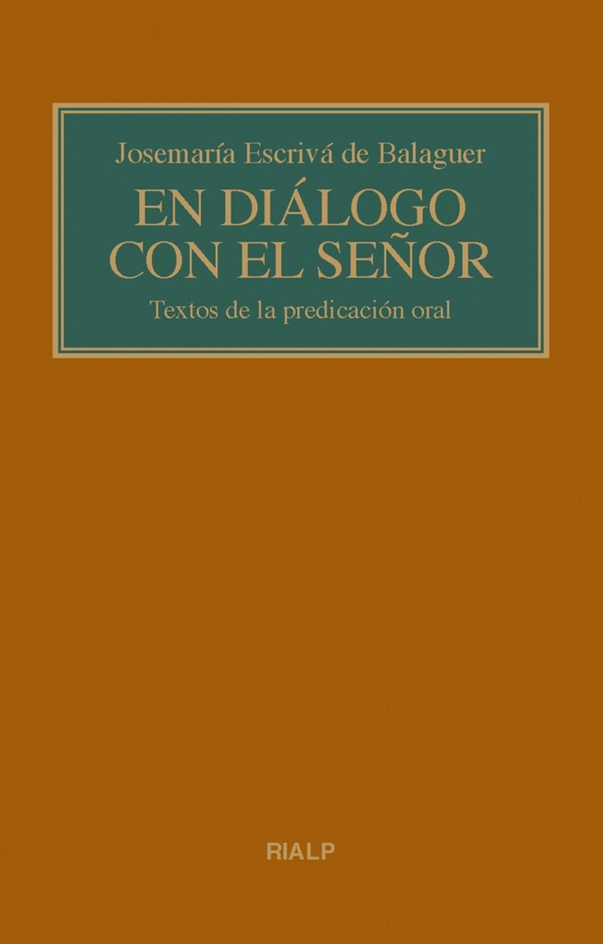 EN DIÁLOGO CON EL SEÑOR