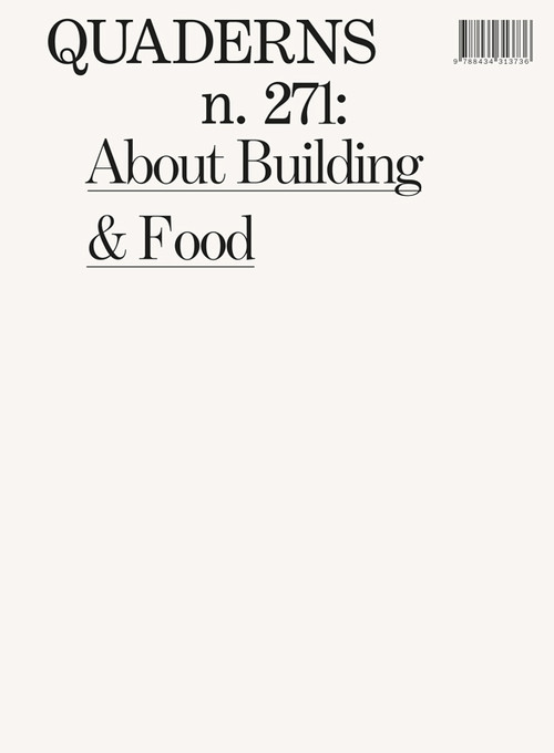 QUADERNS N.271: ABOUT BUILDINGS AND FOOD