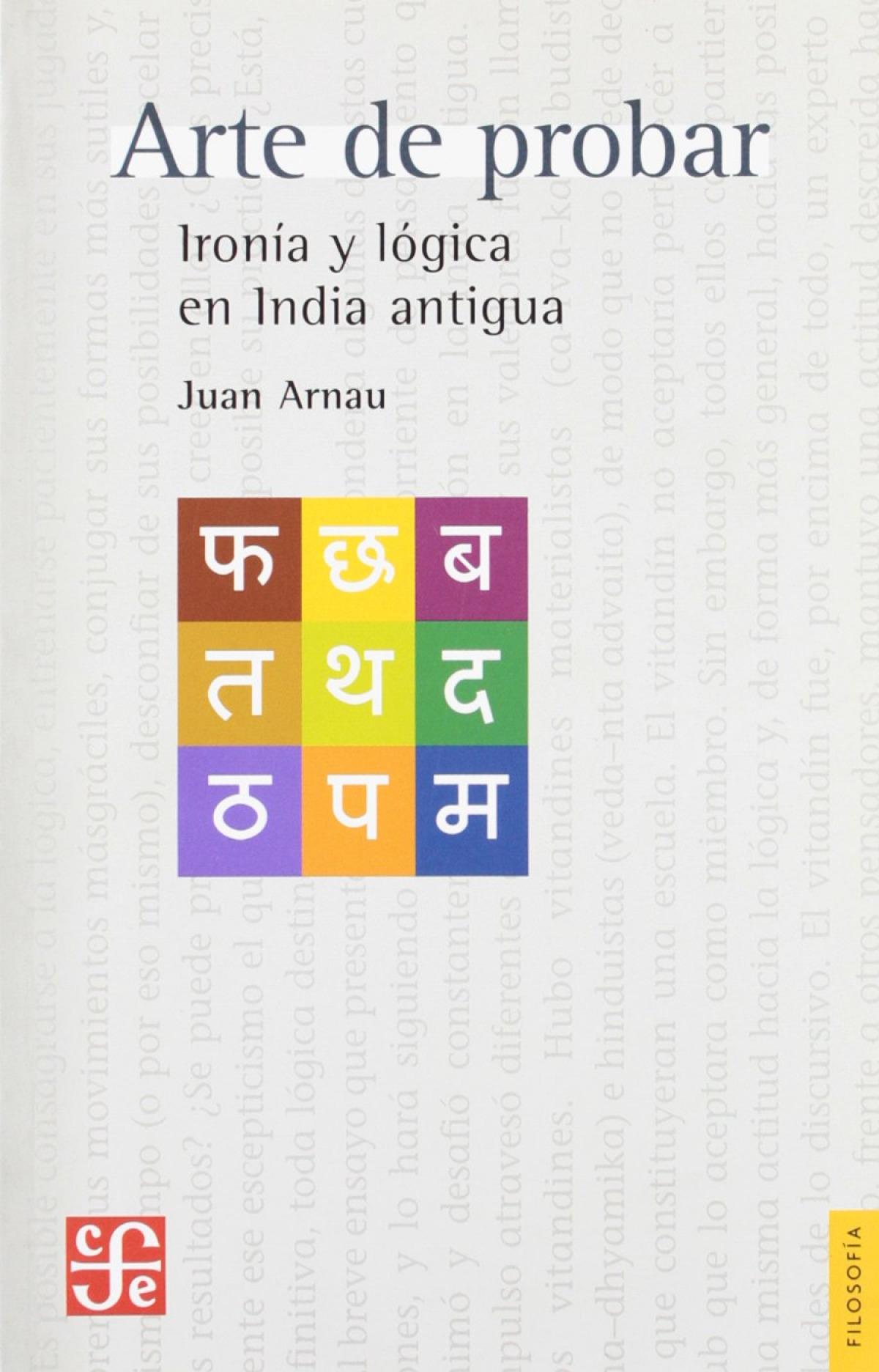 Arte de probar : Ironía y lógica en la India antigua