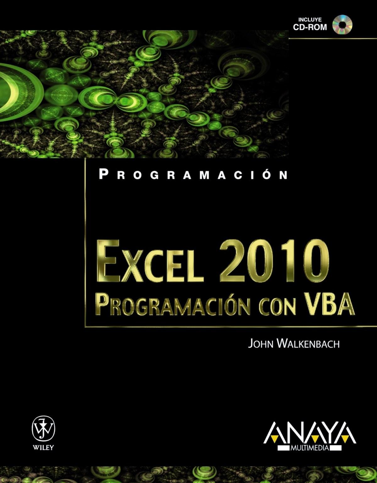 Excel 2010. Programación con VBA 9788441528284