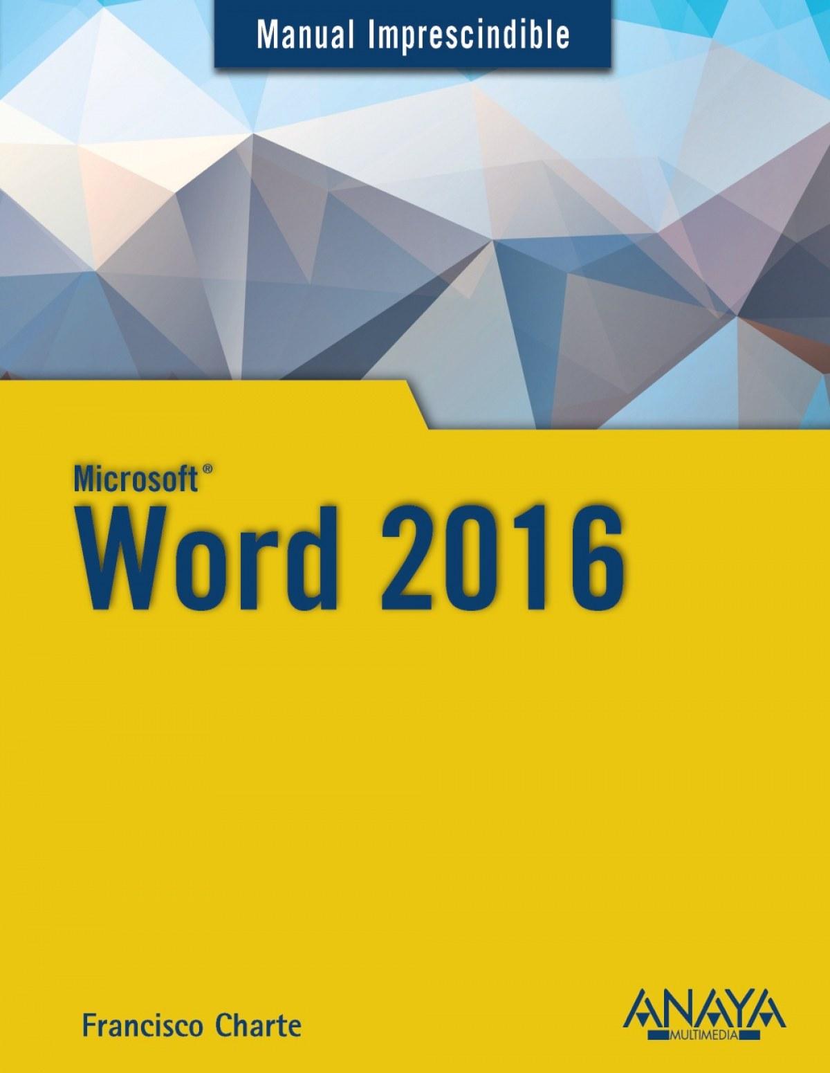 WORD 2016 9788441538160