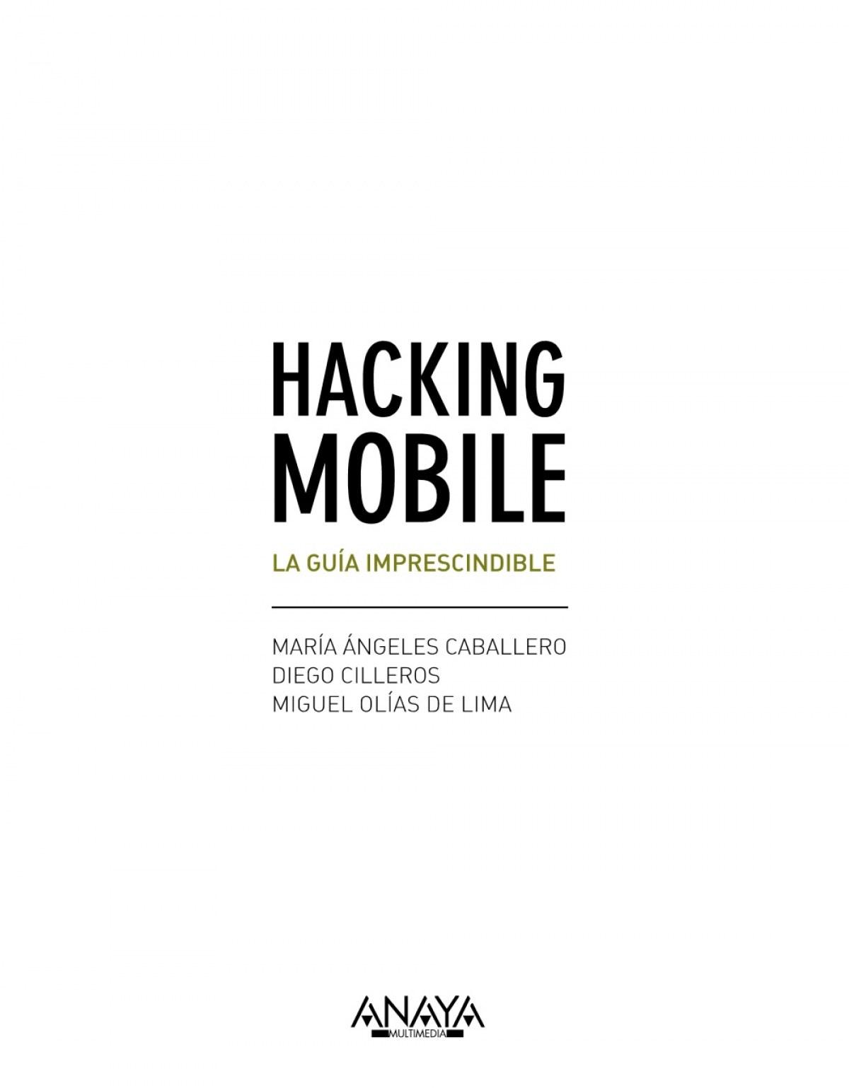 HACKING MOBILE 9788441538245