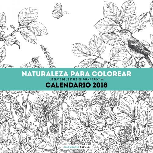 Calendario Naturaleza Para Colorear 2018 - - VV.AA. - Imosver