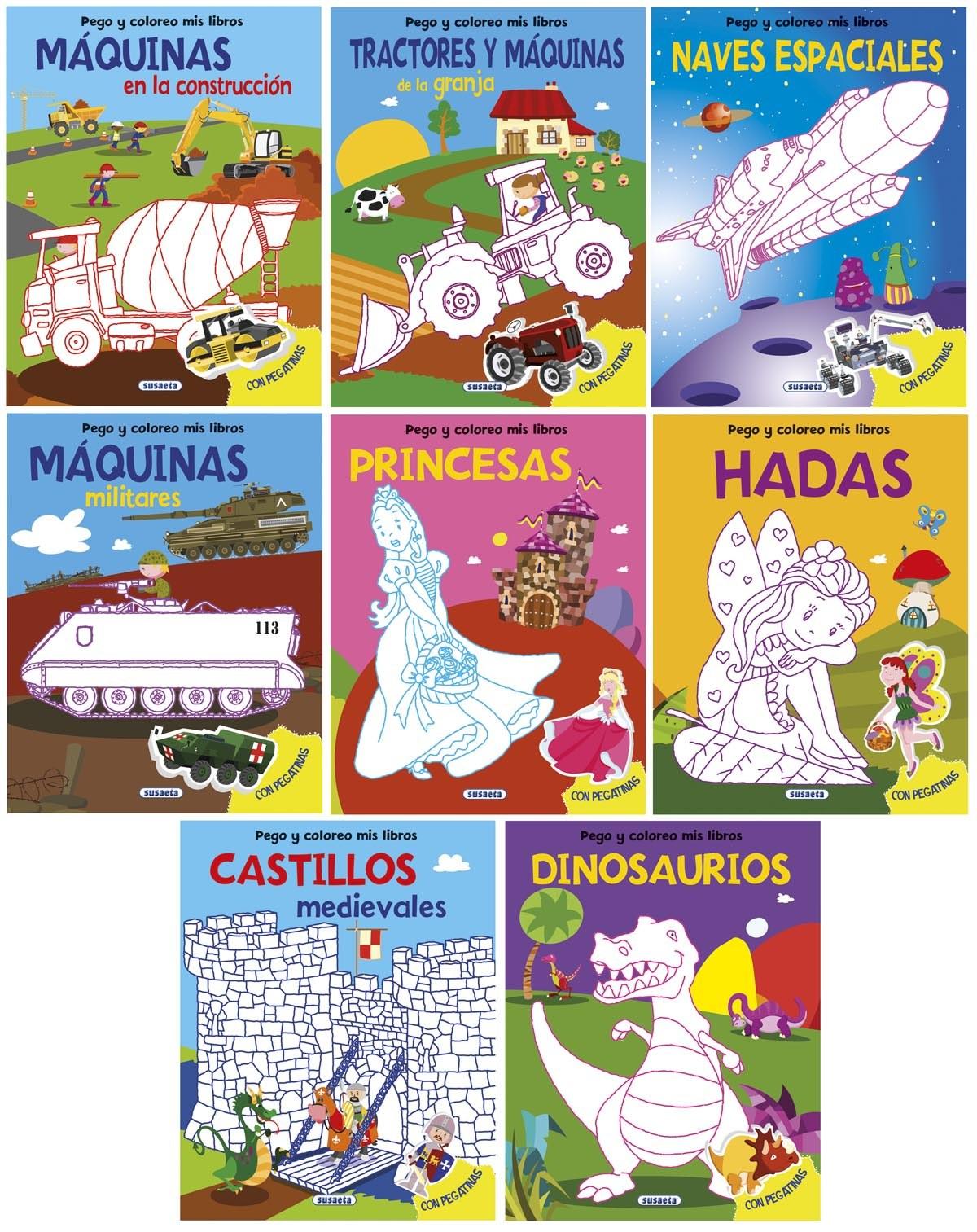 Pego y coloreo mis libros surtidos 9788467737301