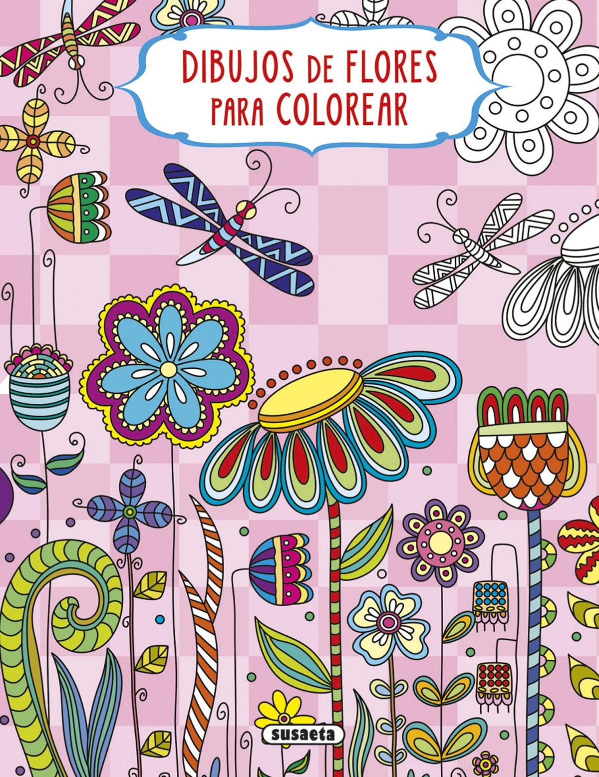 Dibujos de flores para colorear 9788467750089