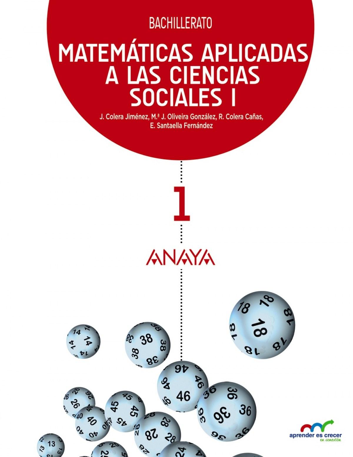 Matemáticas aplicadas a las Ciencias Sociales I. 9788467826951