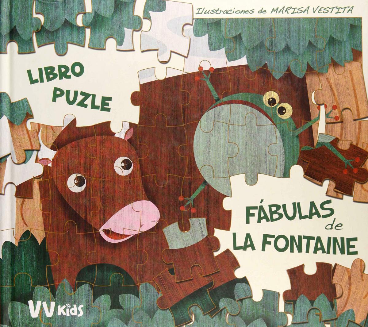 FABULAS DE LA FONTAINE LIBRO PUZZLE + 5 AñOS 9788468254593