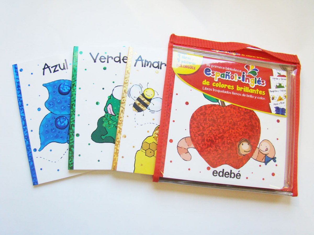 MI PRIMERA BIBLIOTECA DE COLORES BRILLANTES.(ESPAÑOL/INGLES)