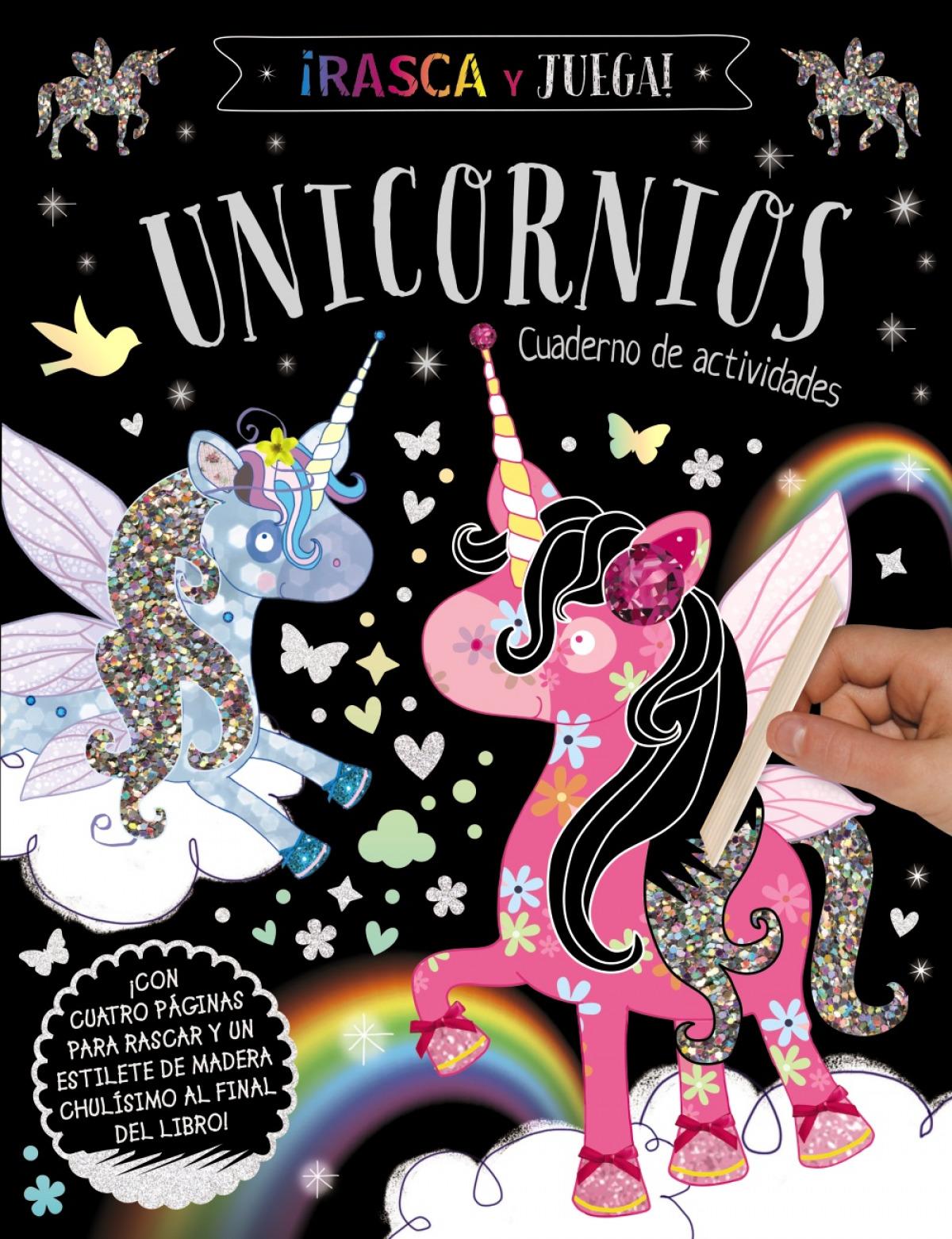 Rasca y Juega. Unicornios - Cuaderno de actividades
