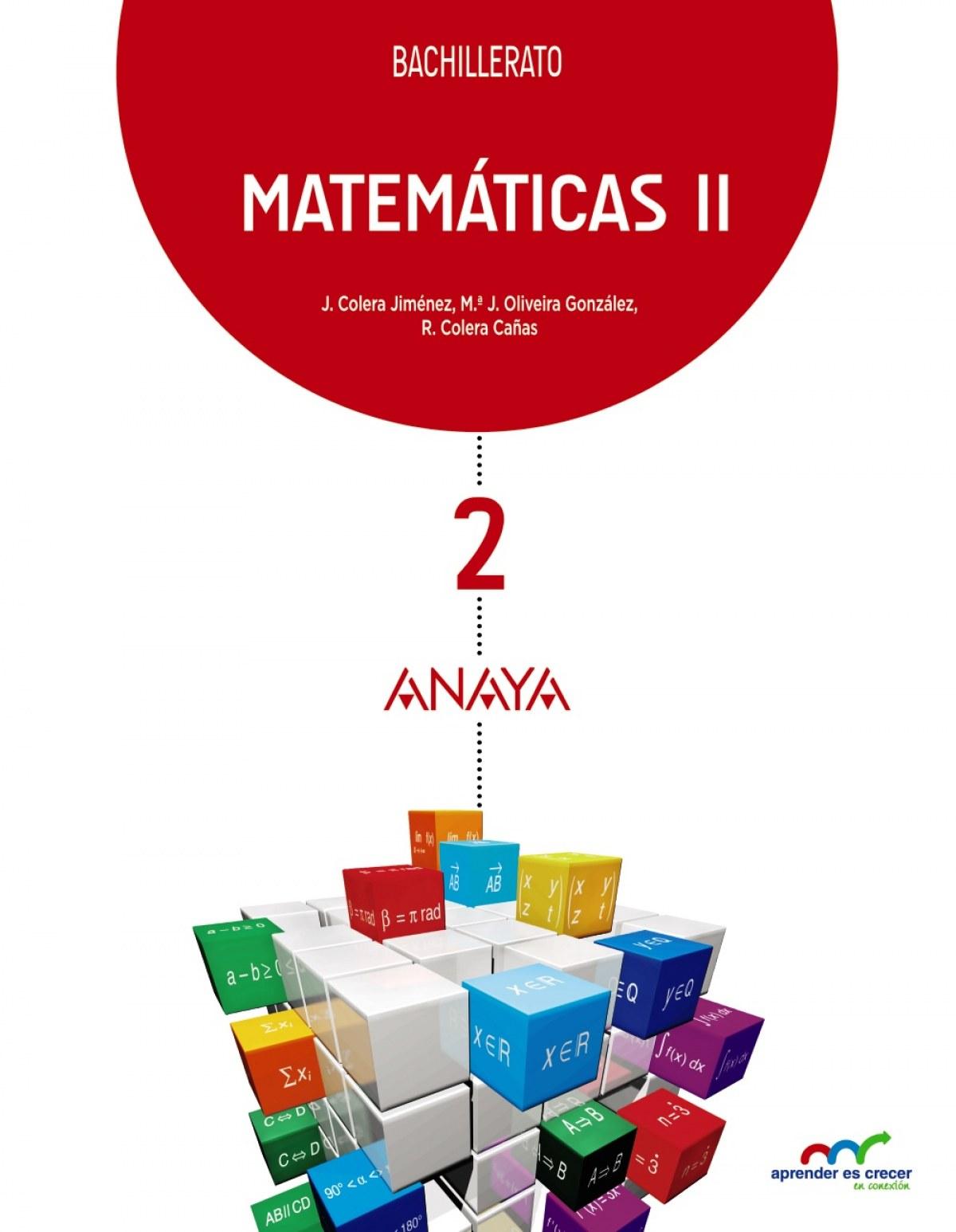Matematicas ii 2o..bach naturales aprender crecer 2016 9788469812778