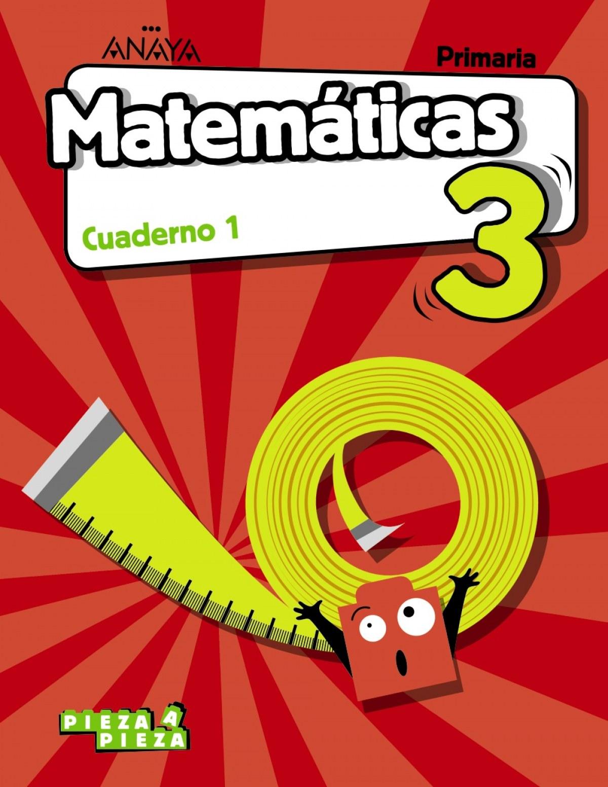 CUADERNO MATEMÁTICAS 1-3ºPRIMARIA. PIEZA A PIEZA. CASTILLA LA MANCHA