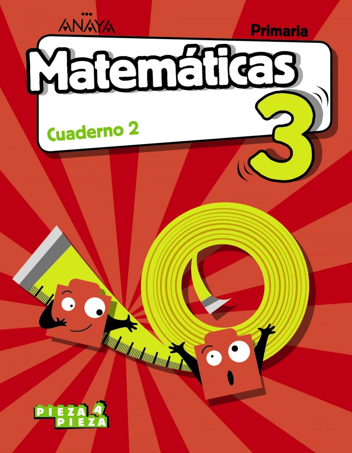 CUADERNO MATEMÁTICAS 2-3ºPRIMARIA. PIEZA A PIEZA. CASTILLA LA MANCHA