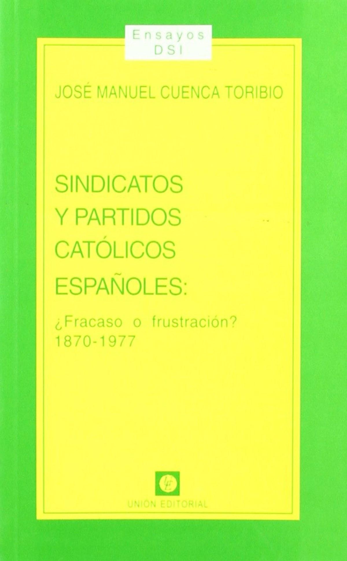 Sindicatos Y Partidos Catolicos Español