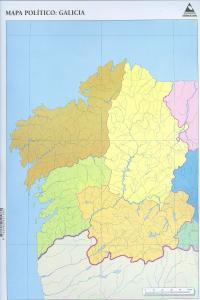 Mapa De Galicia Fisico Mudo.Mpaq 50 Mapas Galicia Politico Mudos Libreria Miranda Bueu
